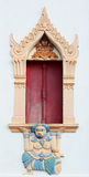 Mooi van het traditionele Thaise venster van de stijlkerk stock foto