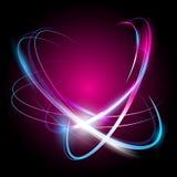 Mooi vector lichteffect Gekleurde lichten met flits Stock Afbeeldingen