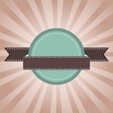 Uitstekend etiket groen met zonnestralen Royalty-vrije Stock Foto