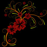 Mooi vectorbloemontwerp Stock Fotografie