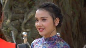 Mooi Vietnamees meisje stock footage