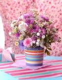 Mooi violet Boeket Stock Foto's