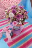 Mooi violet Boeket Royalty-vrije Stock Afbeeldingen