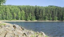 Mooi Vlasina-Meer Servië in de zomer Stock Foto