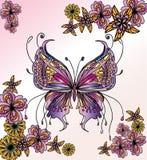 Mooi vlinderbeeld Vector Illustratie