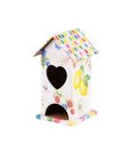 Mooi vogelhuis met hart Stock Afbeelding