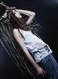 Mooi vrouwelijk model Stock Afbeeldingen