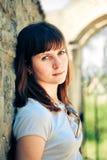 Mooi vrouwen openluchtportret Stock Fotografie