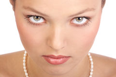 Mooi vrouwengezicht Stock Afbeelding