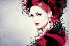 Mooi Vrouwenkunstwerk royalty-vrije stock afbeelding