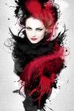 Mooi Vrouwenkunstwerk royalty-vrije stock foto