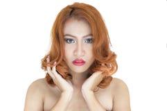 Mooi vrouwenportret stock foto's