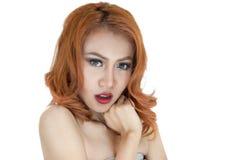 Mooi vrouwenportret Stock Foto