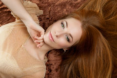 Mooi vrouwenportret royalty-vrije stock fotografie