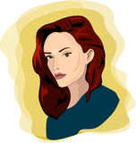Mooi vrouwenportret Stock Afbeelding