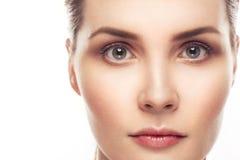 Mooi vrouwenportret met gezonde huid en perfecte make-up Stock Fotografie