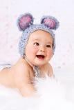 Mooi weinig baby het glimlachen stock foto's