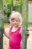 Mooi weinig blond meisjesportret stock afbeelding