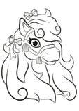 Mooi weinig het leuke poney glimlachen royalty-vrije illustratie