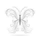 Mooi wervelingspatroon in vorm van een vlinder royalty-vrije illustratie