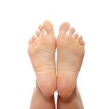 Mooi wijfje een voet en een hiel royalty-vrije stock foto's