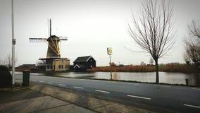 Mooi windmeal landschap Royalty-vrije Stock Fotografie