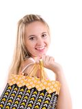 Mooi winkelend meisje Stock Foto