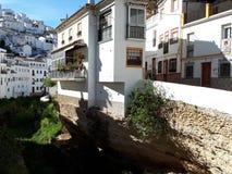 Mooi wit huis in Zuid-Spanje stock afbeeldingen