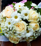Mooi wit huwelijksboeket Stock Afbeelding