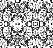 Mooi wit kant op zwarte achtergrond Royalty-vrije Stock Afbeeldingen