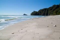 Mooi wit zandstrand in Costa Rica royalty-vrije stock afbeeldingen