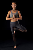 Mooi yogameisje Royalty-vrije Stock Foto's