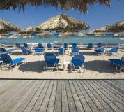 Mooi zandig strand Stock Afbeelding