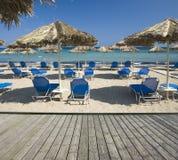 Mooi zandig strand Royalty-vrije Stock Afbeelding