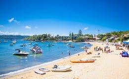 Mooi zandig strand in Watson Bay in Sydney, NSW, Australië Stock Fotografie