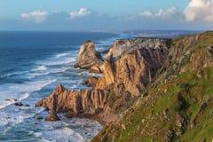 Mooi zeegezicht Cabo DA Roca em Lissabon Portugal Stock Foto's