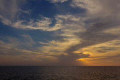 Mooi zeegezicht in de Noordzee Royalty-vrije Stock Afbeeldingen