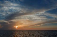 Mooi zeegezicht in de Noordzee Stock Fotografie