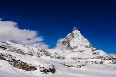 Mooi zet Matterhorn-Piek in Zermatt Switzer op Royalty-vrije Stock Fotografie