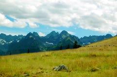 Mooi zonnig berglandschap in de vakantie de dag Stock Fotografie