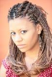 Mooi zwart meisje stock afbeeldingen