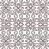 Mooi zwart-wit bloemenornament, Vector naadloos patroon Stock Foto