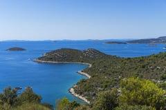 Mooie aard en landschapsfoto van Kroatië en Adriatische Overzees Stock Fotografie