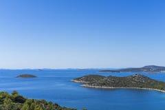 Mooie aard en landschapsfoto van Kroatië en Adriatische Overzees Royalty-vrije Stock Fotografie