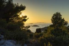 Mooie aard en landschapsfoto van Kroatië en Adriatische Overzees Stock Afbeeldingen