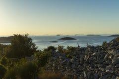 Mooie aard en landschapsfoto van Kroatië en Adriatische Overzees Stock Foto