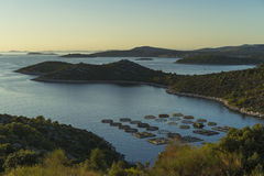 Mooie aard en landschapsfoto van Kroatië en Adriatische Overzees Stock Foto's