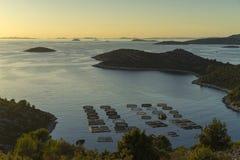 Mooie aard en landschapsfoto van Kroatië en Adriatische Overzees Royalty-vrije Stock Foto's