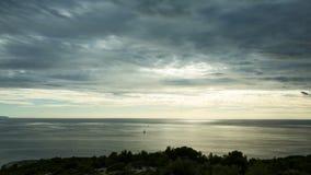 Mooie aard en landschapsvideo van de kust van Kroatië stock video