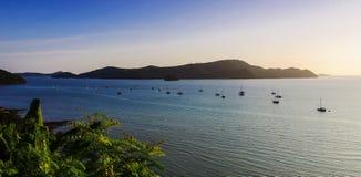 Mooie aard met kleur van zonsondergang Royalty-vrije Stock Fotografie